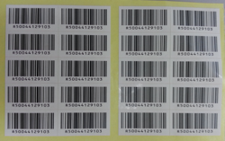 barcode label sticker printing