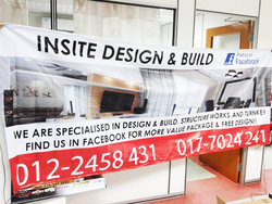 insite design & build banner printed by buntingmax.com.my