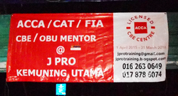 j pro banner printed and installed by buntingmax.com.my