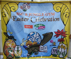easter celebration banner backdrop printed by buntingmax.com.my
