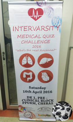 intervarsity medical quiz challenge 2016 bunting with pvc pipe finishing printed by buntingmax.com.my