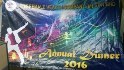 annual dinner banner backdrop printed by buntingmax.com.my