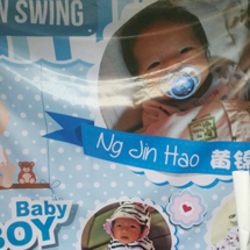 baby new born banner backdrop printed by buntingmax.com.my