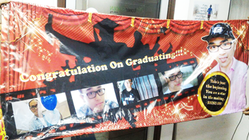graduation banner printed by buntingmax.com.my