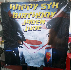 birthday banner backdrop printed by buntingmax.com.my